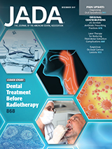 JADA December 2017 issue linking to JADA site